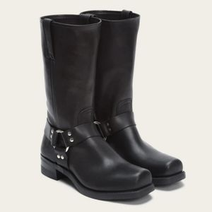 Frye | Black Leather Harness Boots